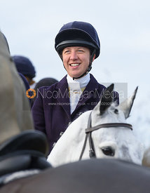Ursula Moore at the meet - The Belvoir Hunt at The Wolds Farm 3/12