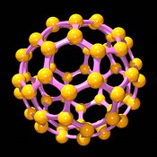 Buckminsterfullerene or Buckyball C60 #18 gold