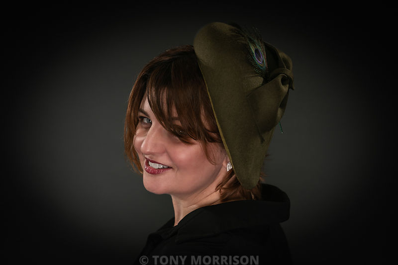 Millinery Portrait #kerrykernan.co.uk #millinery #hat #portrait