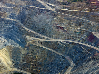 Open Pit Excavation at the Ray mine, Kearny, Pinal County, Arizona,  USA.