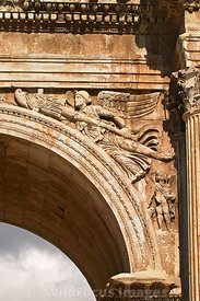 Relief of Winged Victory on the Arch of Constantine, Rome, Italy; Portrait