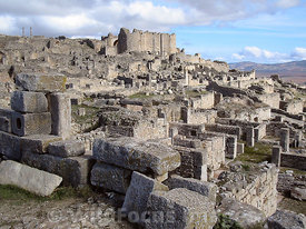 looking towards the Licinian Baths at Dougga; Tunisia; Landscape