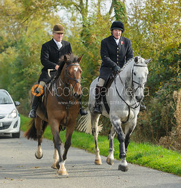 Peter Cooke, Richard Hunnisett on Cold Overton Road - The Cottesmore at Langham.