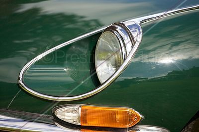 E-Type Jaguar Headlamp and Indicator Light