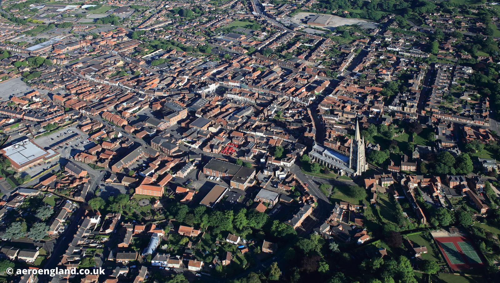 Louth Lincolnshire  aerial photograph