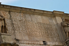 Inscription atop the Arch of Constantine, Rome, Italy; Landscape