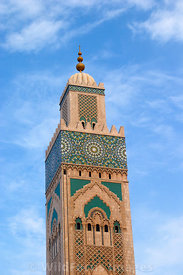 Top of the 210m Minaret on the Hassan II Mosque, Casablanca, Morocco; Portrait
