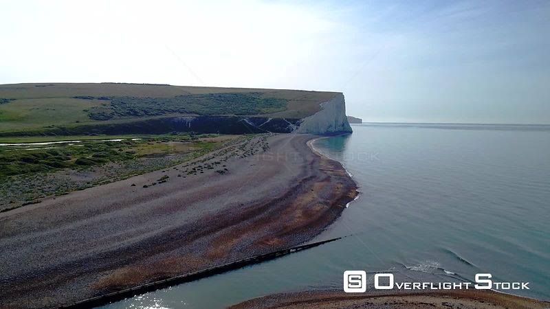 The Seven Sisters Chalk Cliffs Sussex England