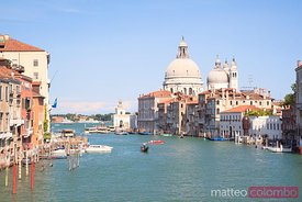 Santa Maria della Salute on the Grand Canal in Venice