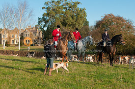 Huntsman Neil Coleman, Whip Joe Tesseyman and the Cottesmore hounds.