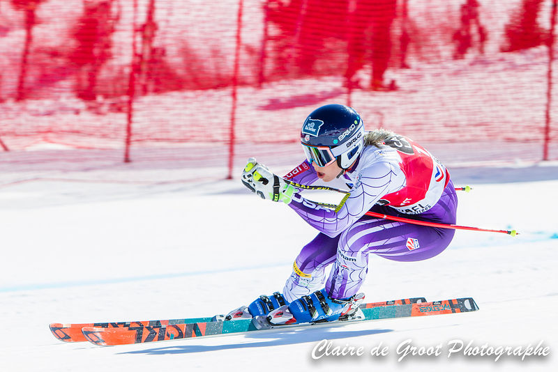 USA's Laurenne Ross looking collected in the ladies downhill final.