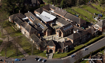 aerial photograph of the International Project Space art gallery in Bournville  Birmingham  UK