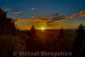 Sunset from Wenlock Edge