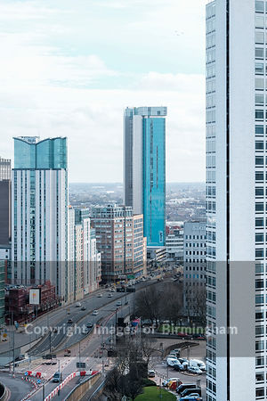 Queensway road and Alpha Tower, Birmingham