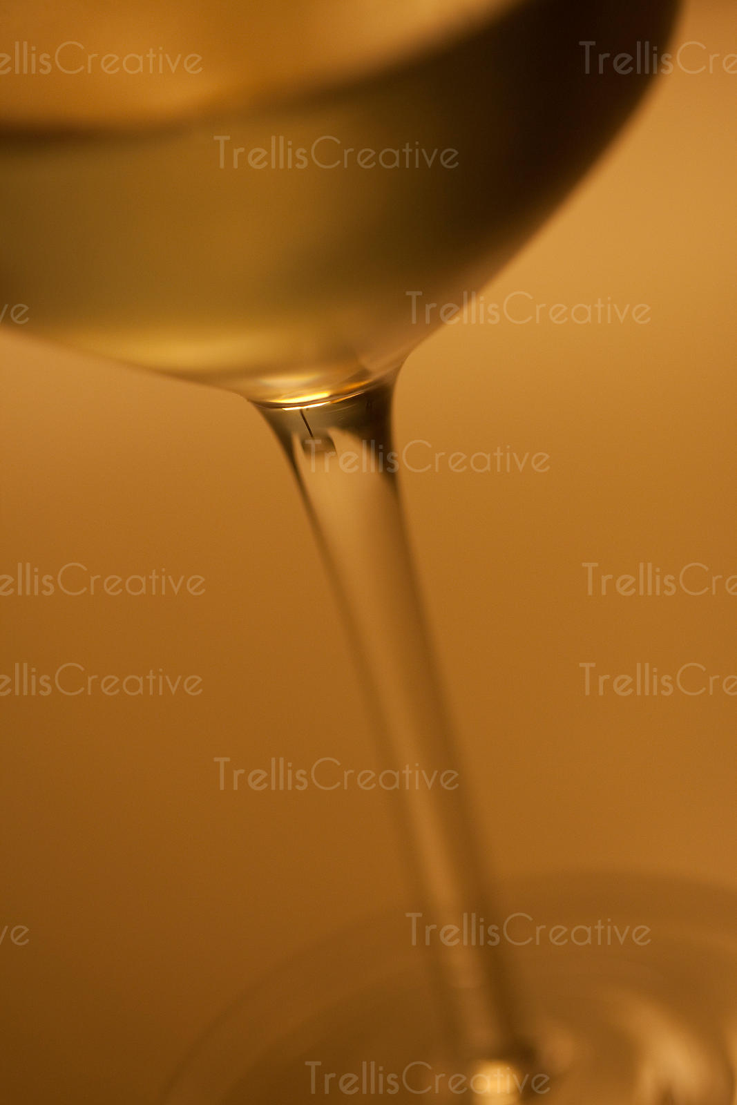 Macro photography of a glass of white wine