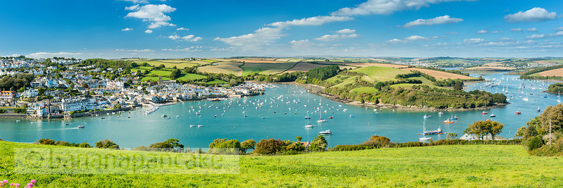 BP6517 - Panoramic view of Salcombe and the Kingsbridge Estuary from East Portlemouth