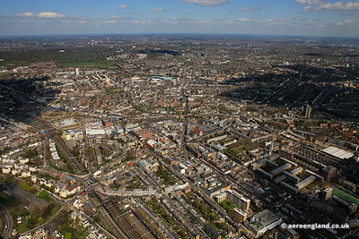 aerial photograph of Camden Town   London England UK