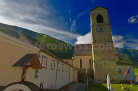 Convent St. John in Mustair. Kloster St. Johann in Müstair.