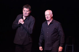 Brad Sherwood, left, and Colin Mochrie