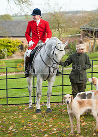 Huntsman Andrew Osborne MFH at the meet - Cottesmore Hunt Opening Meet, 30/10/12