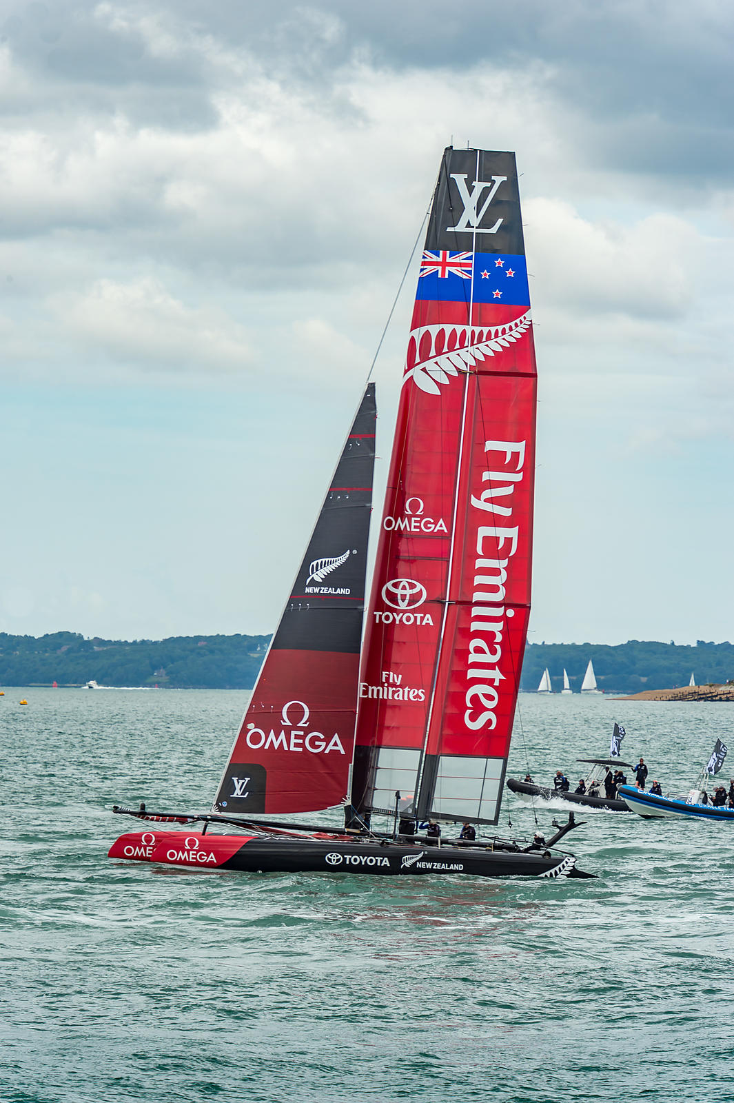 Team Emirates New Zealand at Portsmouth 2015 America's Cup