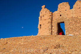 The ruins of the fortified granary atop Ait Benhaddou, Morocco; Landscape