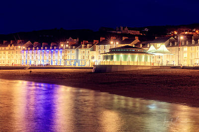 Aberystwyth sea front at night