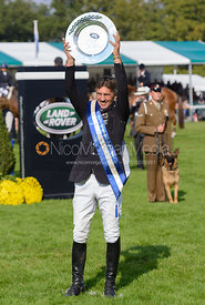 Andrew Nicholson and the Land Rover Perpetual Challenge Trophy - The Prize Giving, Burghley Horse Trials 2014.