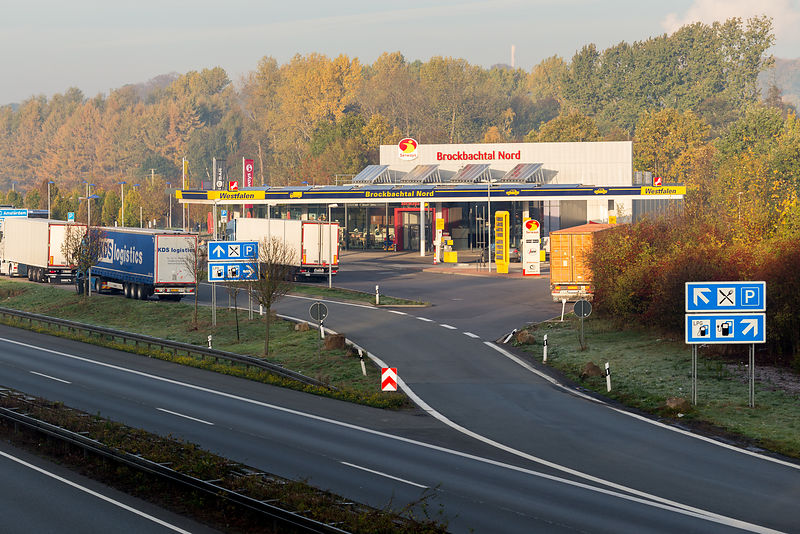 Motorway service station in Germany