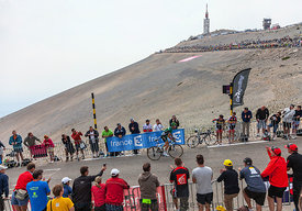 The Cyclist Thomas Voeckler Climbing Mont Ventoux - Tour de France 2013