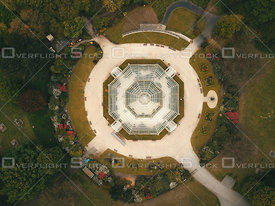 Sefton Park Palm House Vertical View. England