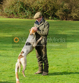 Hartley Crouch at the meet - The Cottesmore Hunt at Little Dalby 7/2
