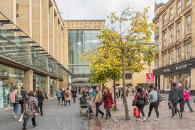 GLASGOW, SCOTLAND - SEPTEMBER 17, 2018: Buchanan Galleries shopping centre in Glasgow. Glasgow is the largest city in Scotland.