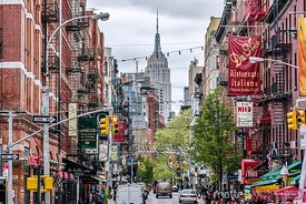 Street in Little Italy, New York city, USA