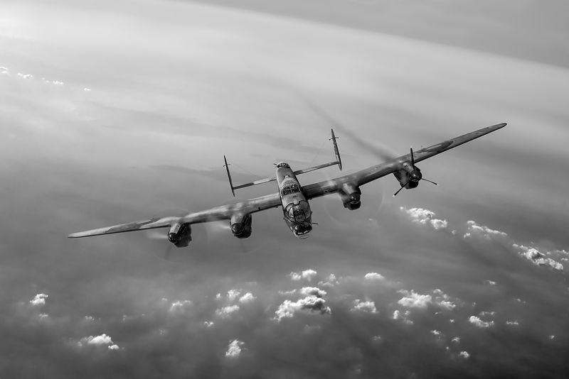 Lone Lancaster black and white version