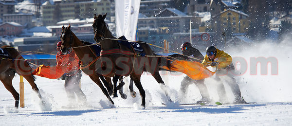 White Turf Event in February on the frozen lake of St.Moritz