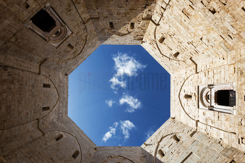 View from the Interior Castel del Monte