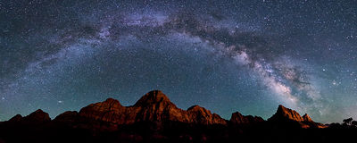 Milky Way Rainbow Over Zion