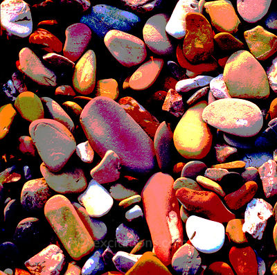 Abstract, pebbles.