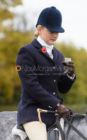 Helen Lovegrove at the meet - Belvoir Hunt Opening Meet 2016.