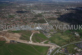 Manchester aerial photograph of Ringway Trading  Estate Shadowmoss Road Ferranti and Atlas Business Park Simonsway with Manchester Airport in the background