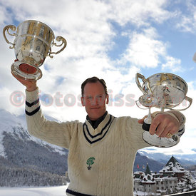 Lord Clfton Wrottesley Winner of The Curzon Cup at The Cresta Run of the SMTC Saint Moritz Tobogganing Club