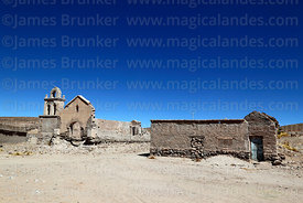 Ruined church at Rio Mulato, Potosi Department, Bolivia