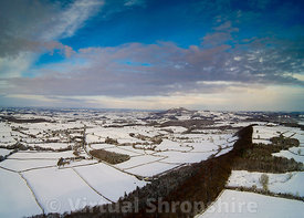 Wenlock Edge Snow (panorama)