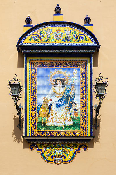 Azulejo Tilework on the Outer Wall of the Real Parroquia de Santa Ana