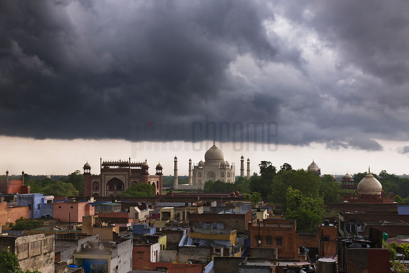 Approaghing Storm over the Taj Mahal