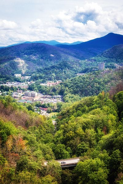 Aerial View of Gatlinburg Tennessee
