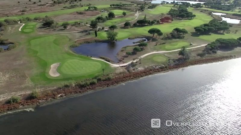 Aerial Hyperlapse of a Golf Course, With Cars and Players, Captured by Drone, Saint Cyprien, France