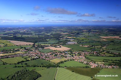 aerial photograph of Briston  Norfolk England UK