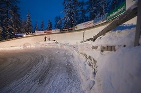 Construction Ice Track Olympia Bob Run Saint St. Moritz Photo